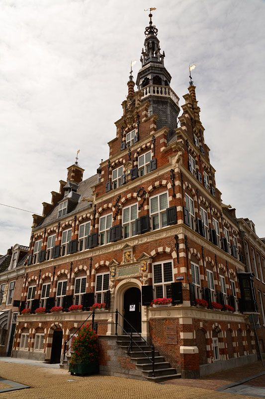 "The City Hall of Franeker, Friesland, the Netherlands. It was built between 1591-1594. This building was the inspiration for ""The Dutch House"" in Brookline, Massachusetts: http://en.wikipedia.org/wiki/The_Dutch_House"
