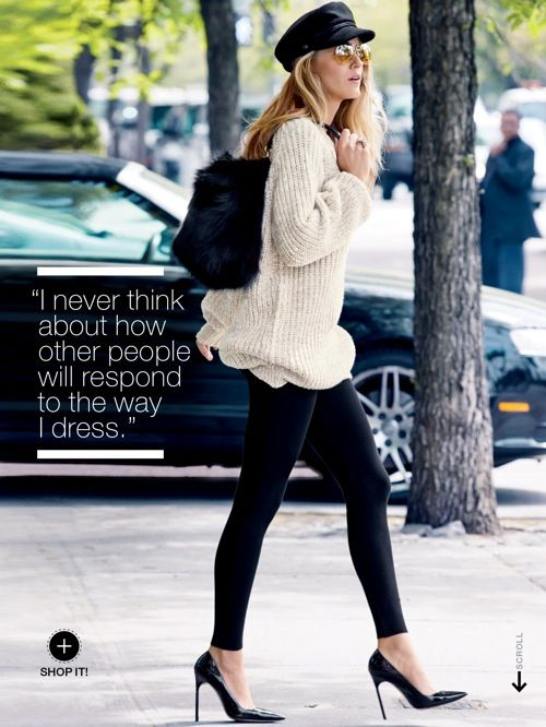 Blake Lively for Lucky - September 2013 #StreetStyle #fall #autumn