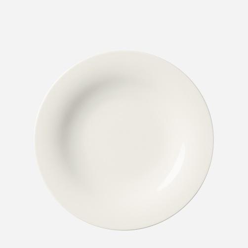 Sarjaton-lautanen 22 cm valkoinen