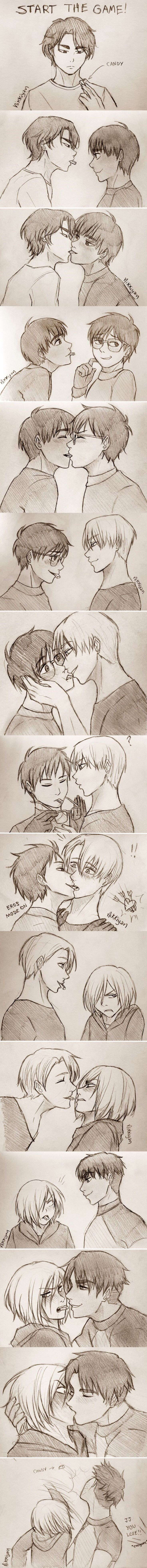 By nikkiyan on tumblr candy game >>> Yuri was super sexy and yurio would have been totally fine with a kiss if it was from otobek
