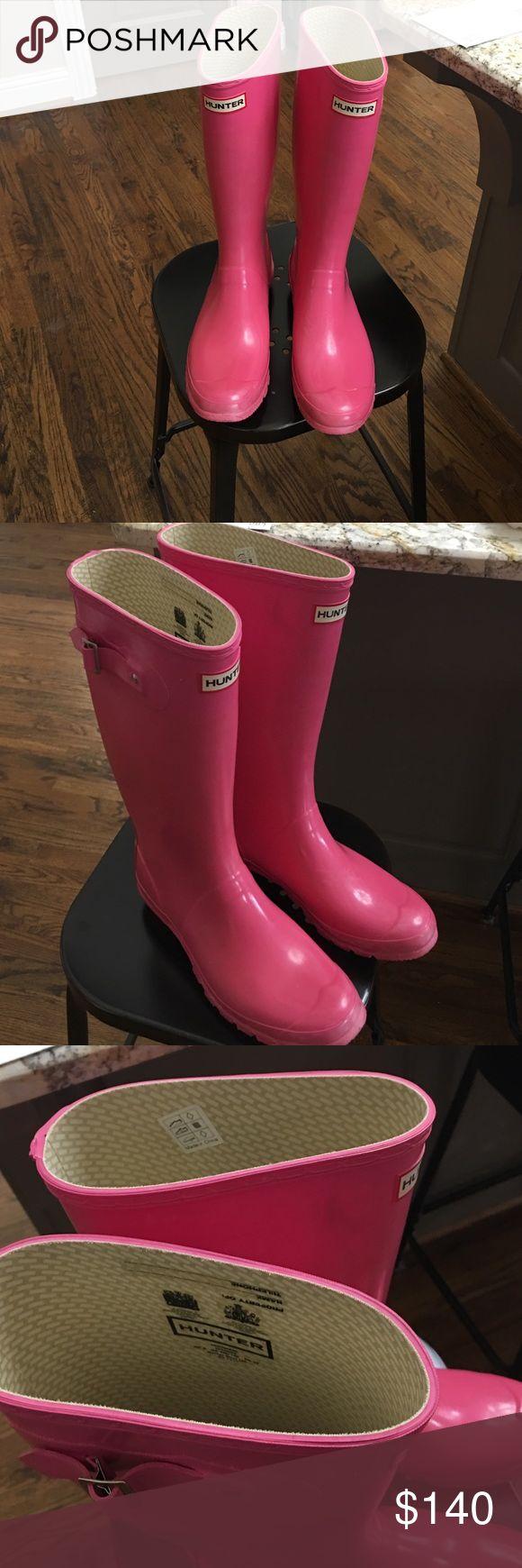 Pink hunter rain boots Fun pink hunter rain boots Hunter Shoes Winter & Rain Boots