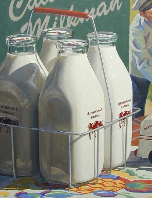 old fashion milk glass containers | milk bottles. they were delivered every morning but sunday by a ...