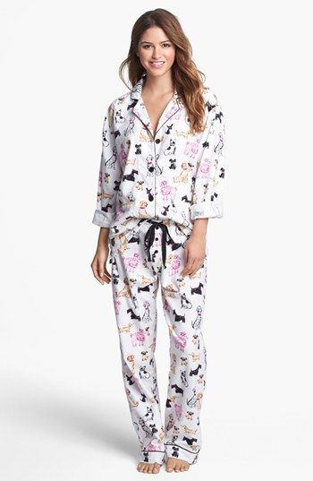 Must have these!! PJ Salvage 'Dog Days' Pajamas available at #Nordstrom Christmas morning starts in your PJs!  PJ Salvage Flannel Pajamas- in cute prints! #pjsalvage #gift