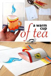a worm cup of tea kids craft