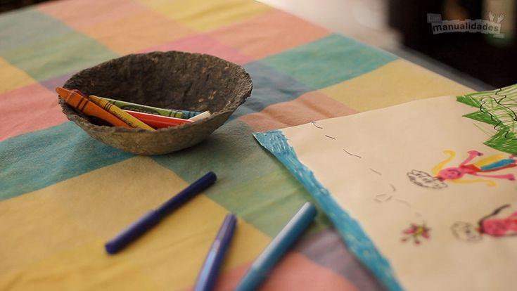 Cómo hacer un plato de papel maché