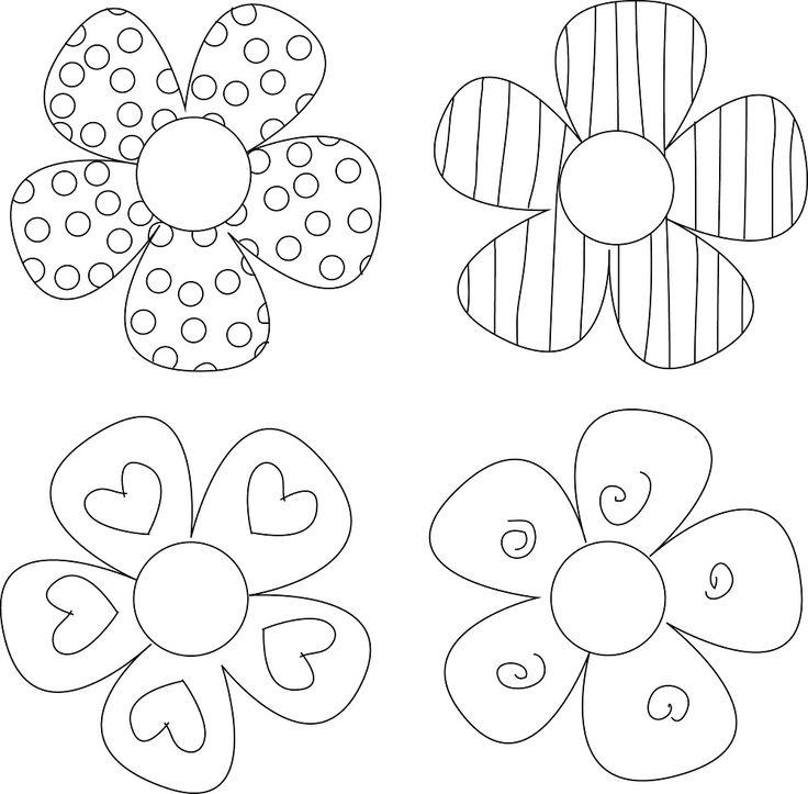 Гифы, цветы для открытки трафареты