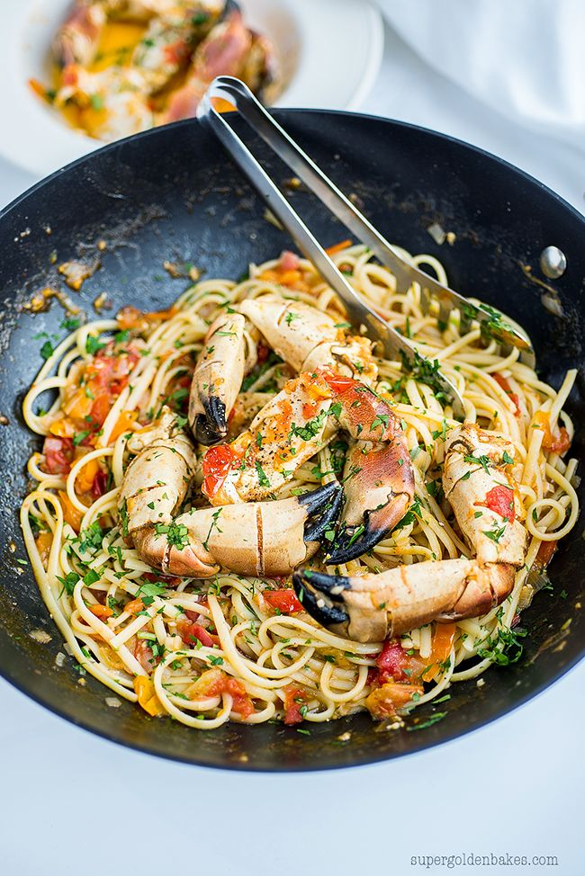 Quick and easy Crab Linguine – quite possibly, THE messiest and most delicious meal ever! | Supergolden Bakes