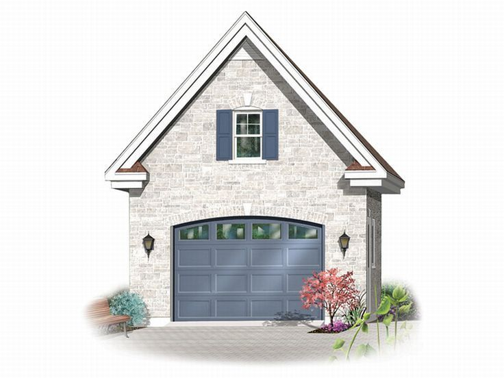 33 best images about 1 car garage plans on pinterest for One car garage with loft