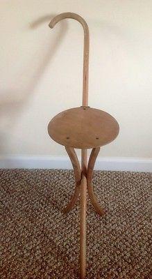 Vintage Folding Kan O Seat Wood Walking Cane Stick Seat