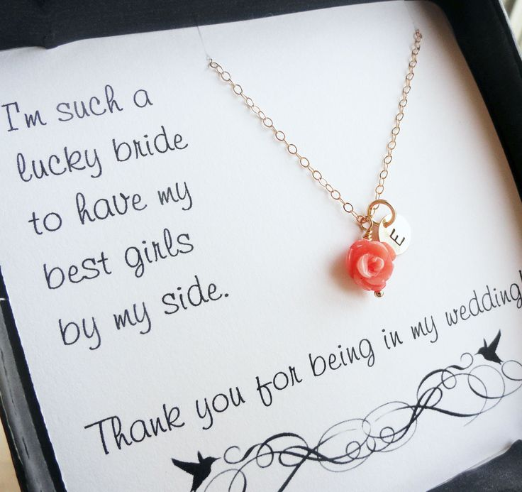 Quotes For Wedding Gift Card : Bridesmaid cards with necklace, boxed gift sets for bridesmaids, thank ...