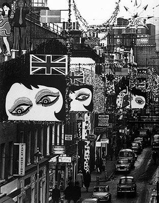 Carnaby Street is known for their amazing decorations to celebrate and spice up our lives. Here's an example of what the iconic street looked like in the 60's.