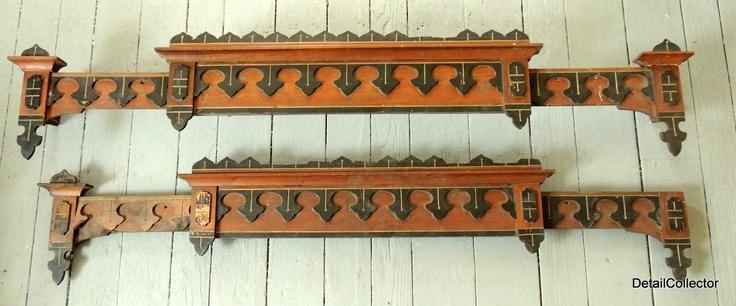 2 Adjustable Eastlake Window Cornices 1880 | eBay