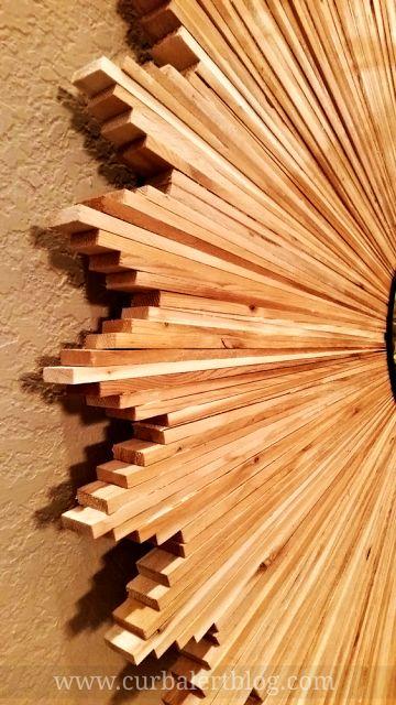 Curb Alert! : DIY Knockoff Wood Shim Starburst Mirror