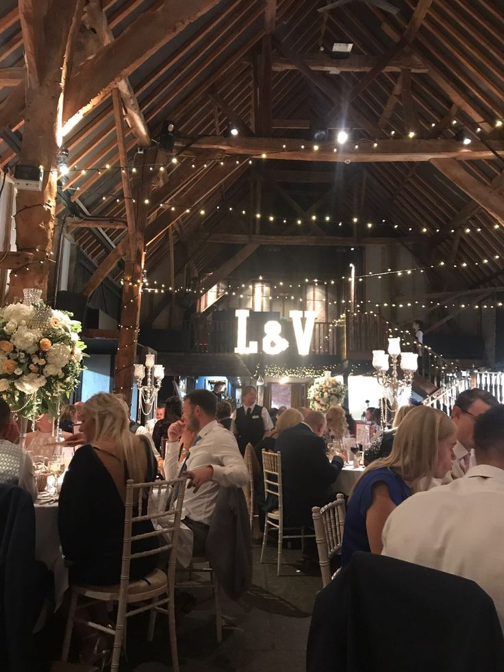 Light Up Lu0026V for a wedding at