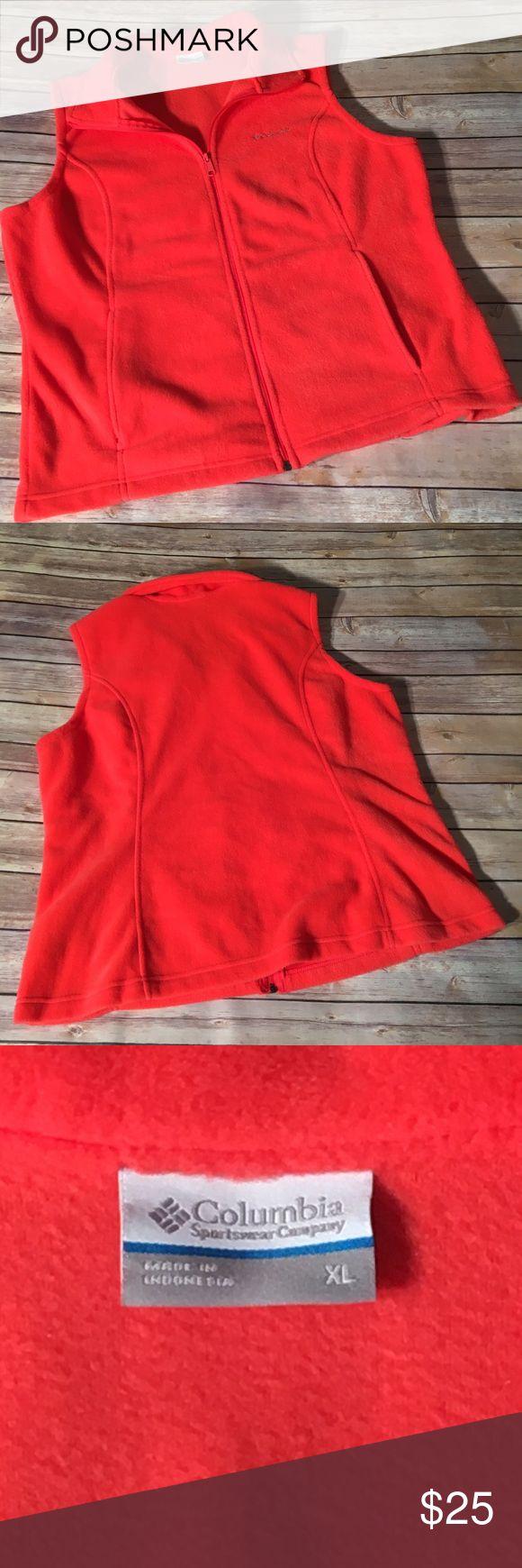 NWOT Columbia Sportswear Company Coral Vest XL NWOT Columbia Sportswear Company Full-Zip Fleece Vest Color: Coral  Size: XL Columbia Jackets & Coats Vests