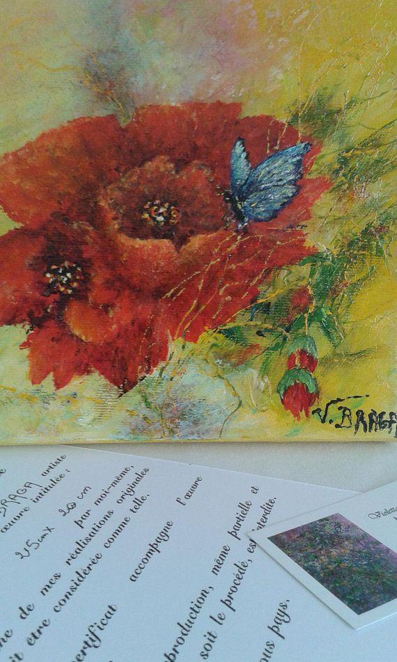Tableau Papillon Peintureacrylique Sur Toilepeinture Papillon