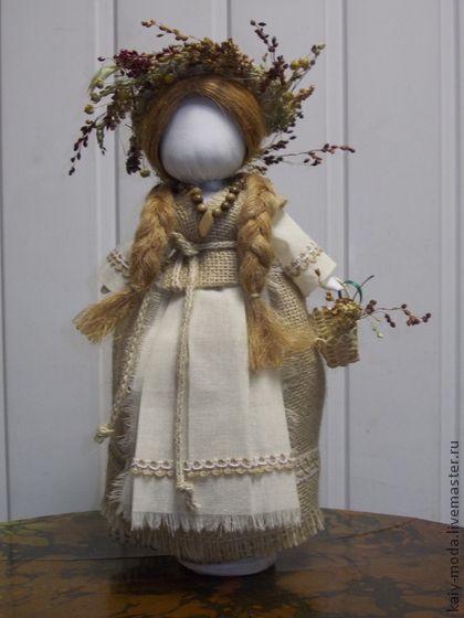 "Народные куклы ручной работы. Ярмарка Мастеров - ручная работа Текстильная кукла-мотанка ""Осенняя"". Handmade."