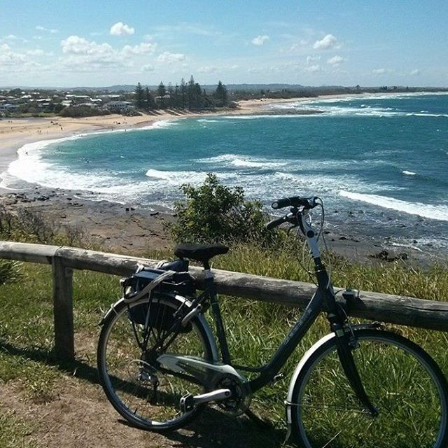 We reached the top! Looking out to beautiful Moffat Beach in Caloundra... ☀️
