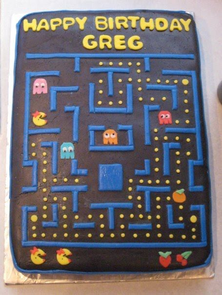 pac man cake ideas | Cake Design By April: Ms. Pac-Man Cake
