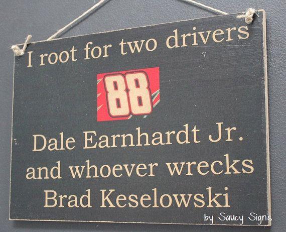 Nascar Dale Earnhardt Jr. versus Brad Keselowski by SaucySigns