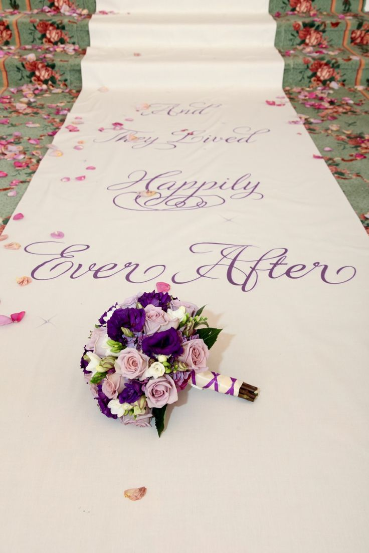 A great prediction to be on the aisle runner - so sweet.