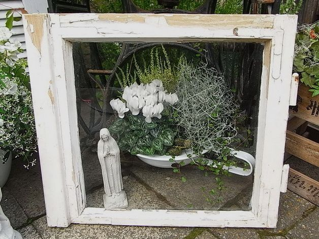 Vintage Bilderrahmen – alte Fenster Bilderrahmen Utensilo Shabby Chic E – ein …