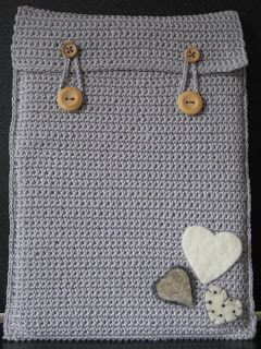 Bolletje Lucky: gehaakte hoes voor tablet/crochet cover for a tablet