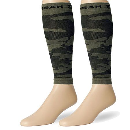 Army Green Camo Compression Leg Sleeves for running