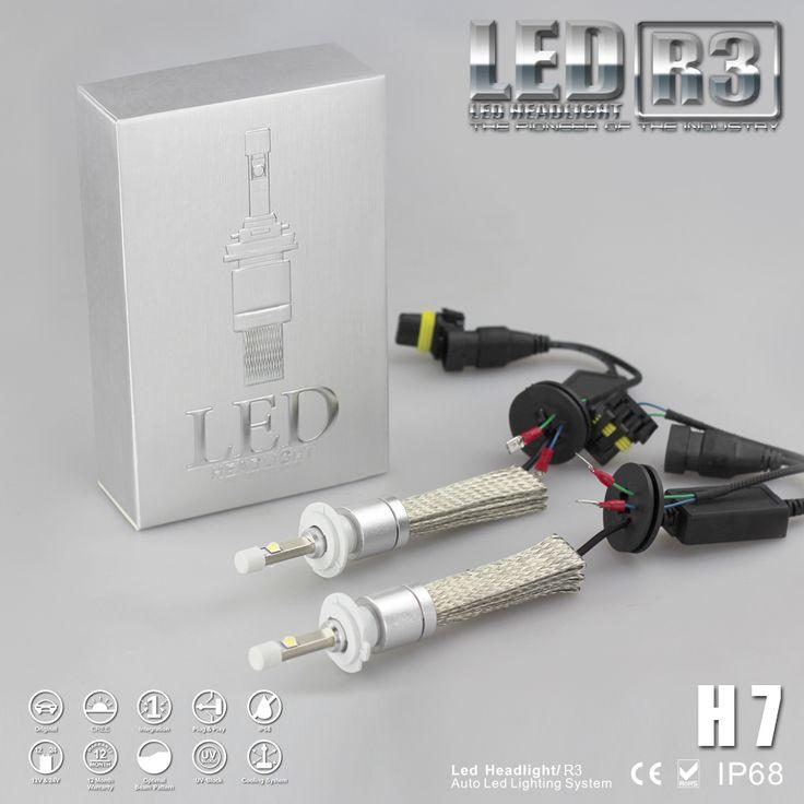 R3 9600lm H7 Xenon Putih 6000 K Mobil Super Terang DIPIMPIN Lampu Kit Konversi CRE-E XHP-50 4800lm Bulb