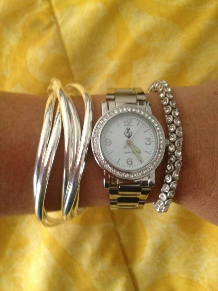 Up To Date watch, Flirty bracelet, and Special Day bracelet by Premier Desings.