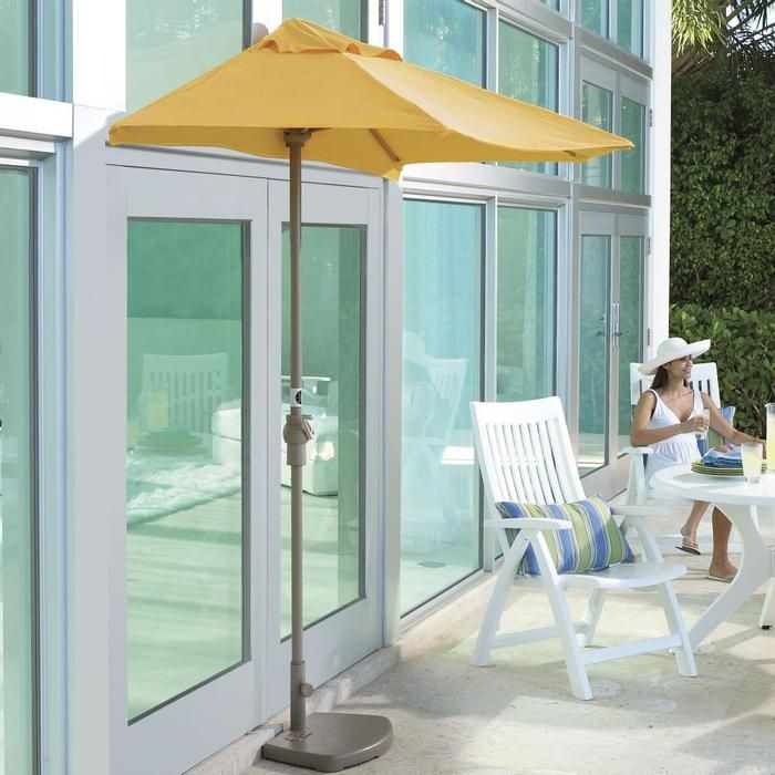 """Space-saving <a style=""""text-decoration: none"""" href=""""../searchResults.jsp.vr?his=2~46337~2~root_category%40kwd~patio+umbrellas"""">patio umbrellas</a> only have half a canopy."""