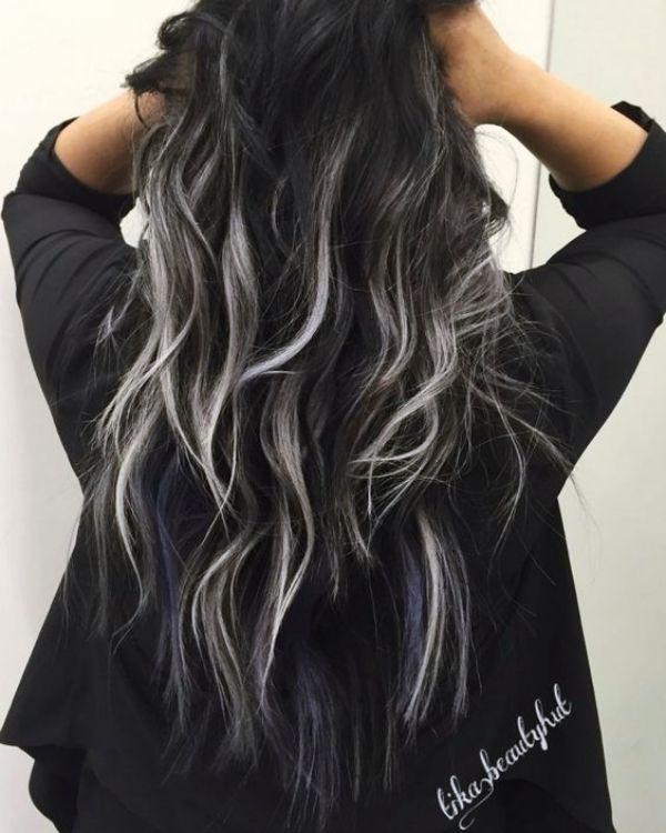 15 Authentische Haarfarbe Ideen Fur Schwarzes Haar Graue