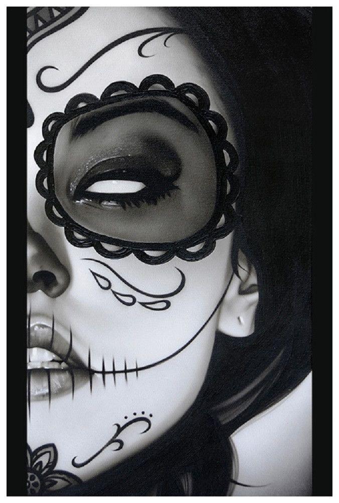 Sophia la Muerta by Daniel Esparza Woman Sugar Skull Tattoo Art Print