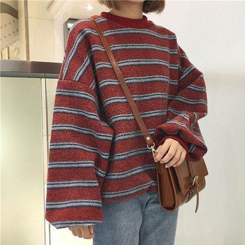 Oversize striped sweater 1