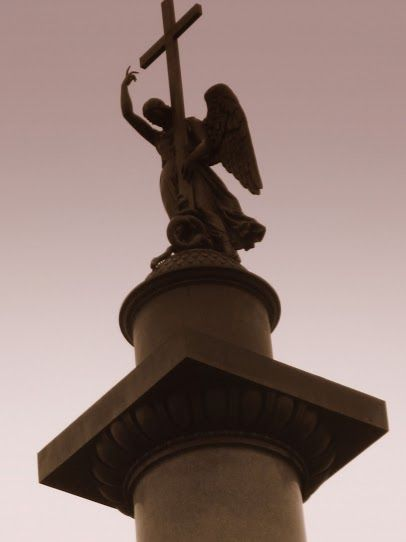 The Angel Statue from Alexander Square (outside of the Hermitage) in Saint Petersburg, Russia