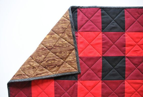 Lumberjack Gingham Crib Quilt by PerpetualProjectShop on Etsy