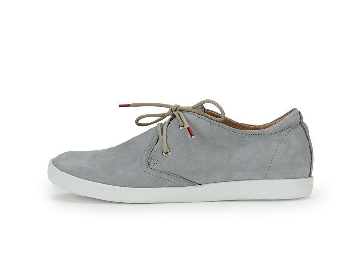 Leder-Sneaker Stein