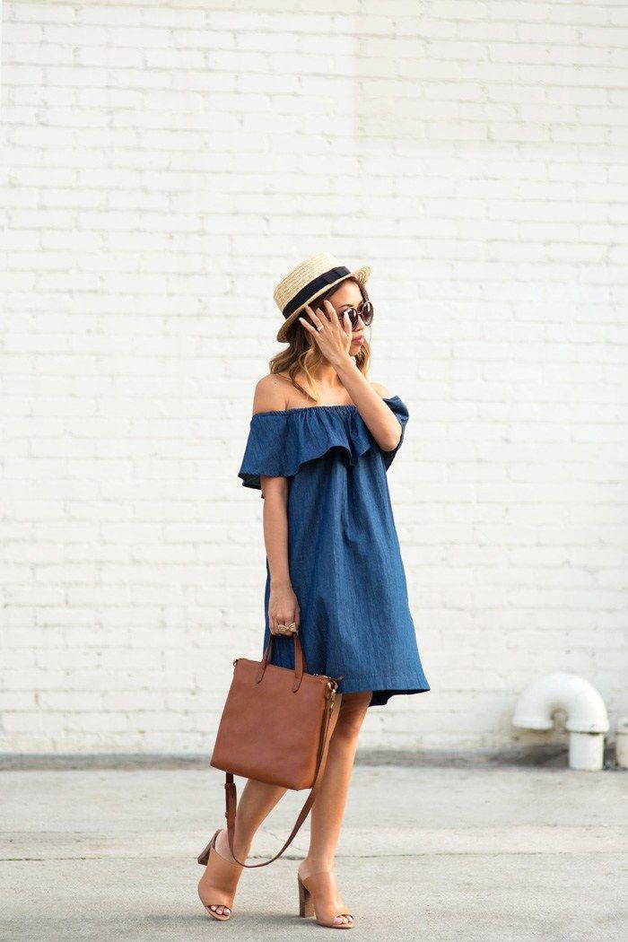 Vestido jeans curto: 52 modelos para usar a peça em todas as estações | Moda | Fashion dresses, Dresses, Fashion