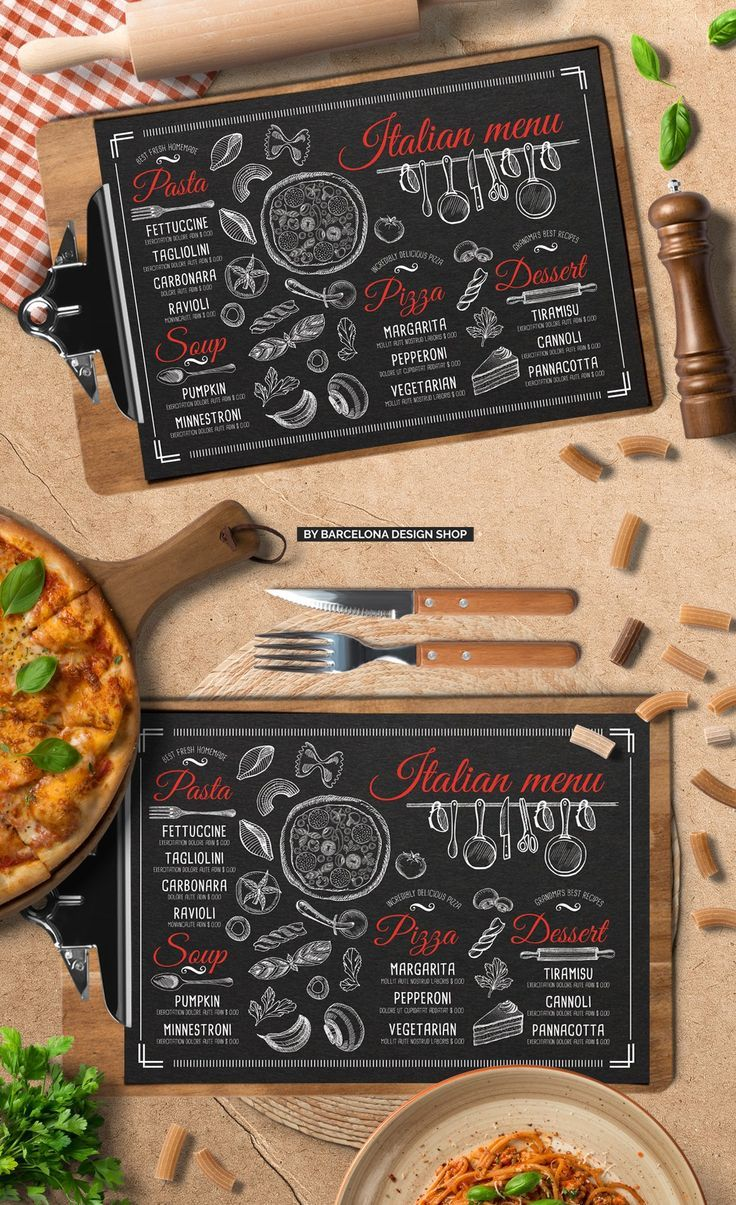 Free Trifold Pizza Menu Template By Barcelonashop On