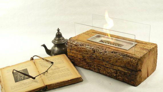 Fireplace. Tabletop fireplace. Glass by PolishRusticDesign on Etsy