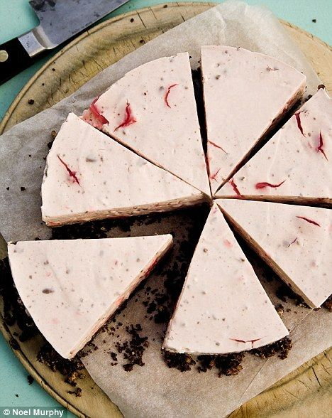 turkish delight cheesecake with turkish delight inside. marcus wareing