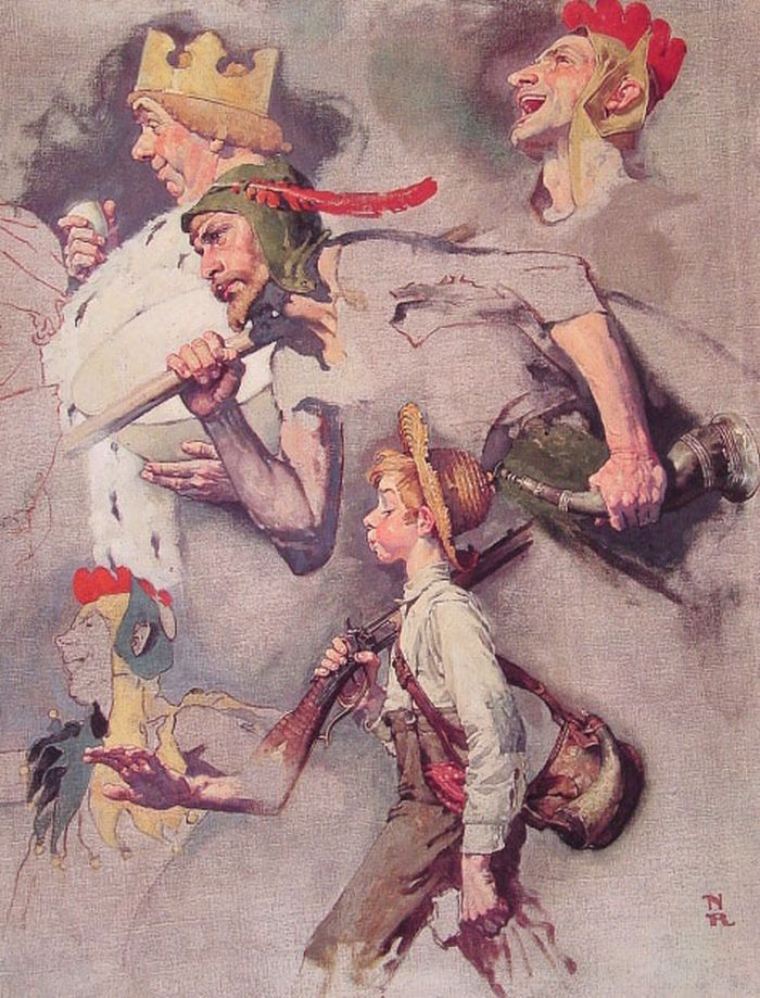 The Land of Enchantment by Norman Rockwell #art