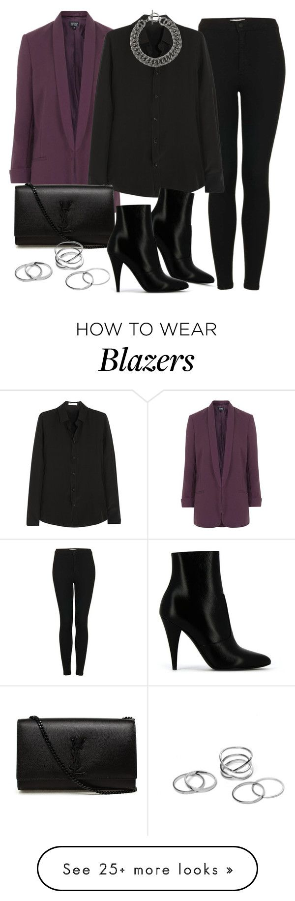 """""""Style #9393"""" by vany-alvarado on Polyvore featuring Topshop and Yves Saint Laurent"""