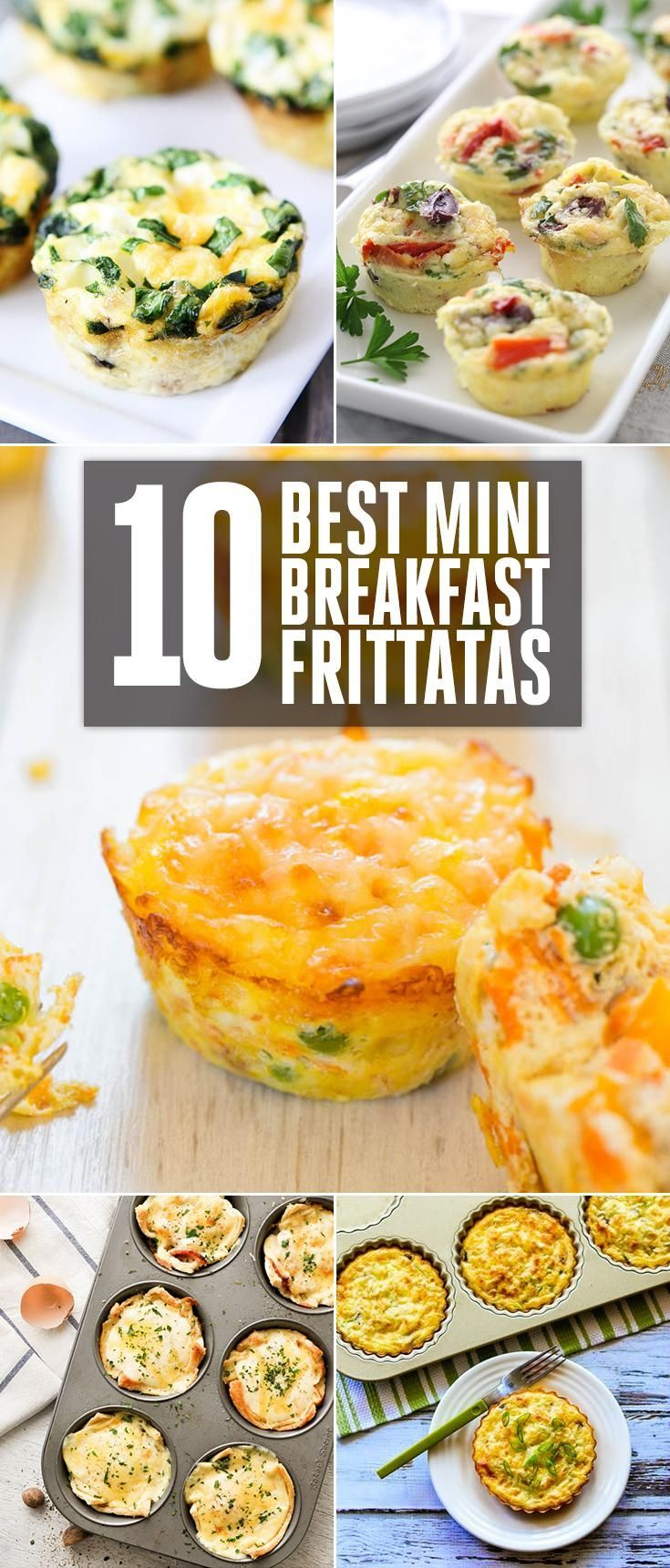 10 Best Mini Breakfast Frittatas - Mediterranean Mini Frittatas, Egg Muffins With Sausage, Spinach and Cheese, Mexican Breakfast Cup, Croque Madame Toastie Cups, Cheese/Vegetable and Egg Muffins, Spinach Artichoke Quiche Cups, Southwest Omelette Cups and  (mushroom and spinach quiche dinners)