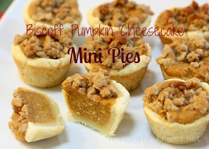Biscoff Pumpkin Mini pies