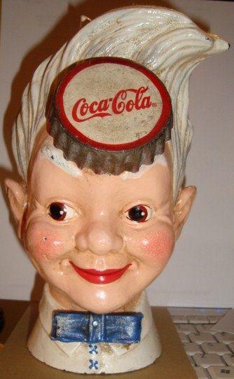 Cast Iron Still Bank Coca-Cola Sprite Boy FEB 2 by DLSpecialties