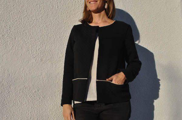 """Gilet Monceau transformé en veste """"Des petits hauts like"""""""