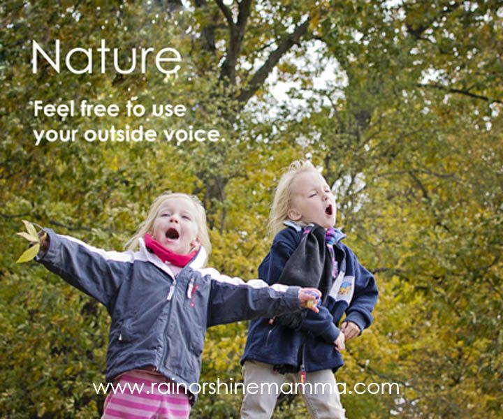 nature feel free to use your outside voice great website