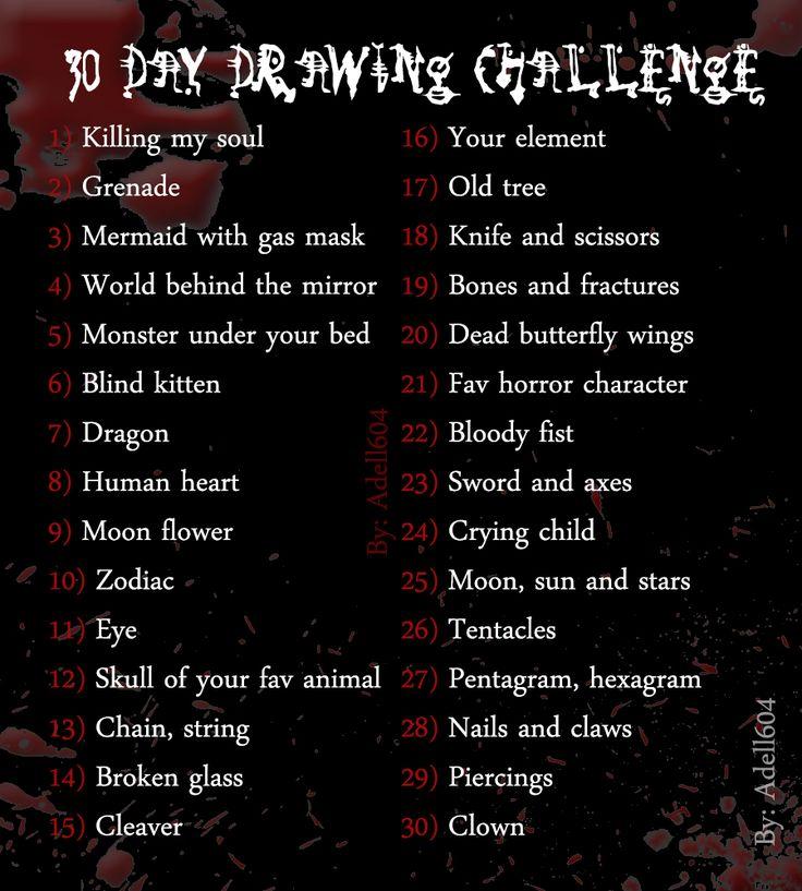 Dark/ creepy drawing challenge