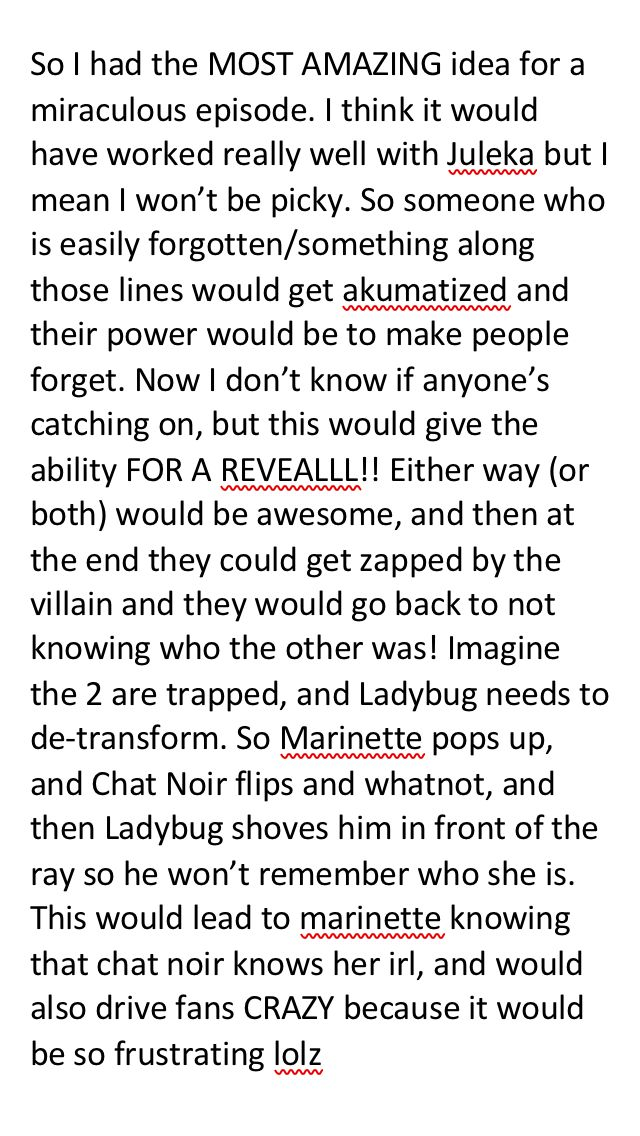#miraculous #marichat #adrinette NEW MIRACULOUS IDEA EPISODE THOMAS ASTRUC GET ON IT!!